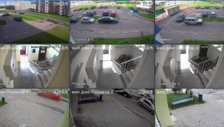 Видеонаблюдение на жилом многоквартирном доме